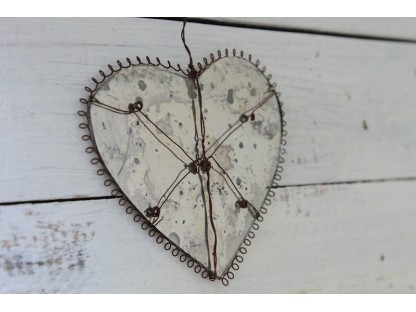 Cuore a rete vintage shabby