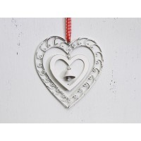 Cuore country white campanella