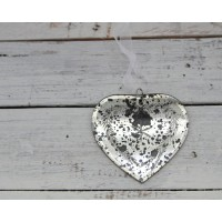 Cuore inciso vintage shabby
