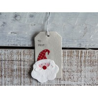 Gift tag con babbo natale
