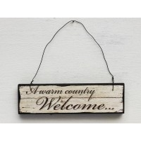 "Insegna ""country welcome"""