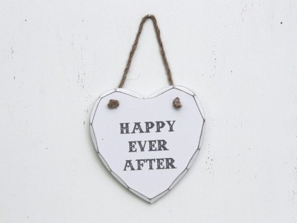 "Insegna cuore ""happy ever after"""