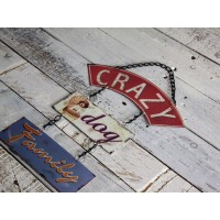 "Insegna industrial ""crazy dog"""