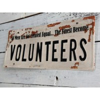 "Insegna industrial ""volunteers"""