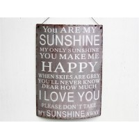 "Insegna industrial ""you are my sunshine"""