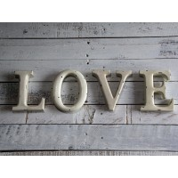 "Insegna lettere ""love"" shabby chic"