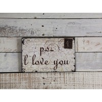 "Insegna romantica ""p.s i love you"""
