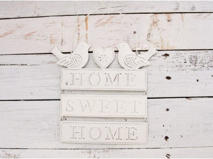 """Insegna uccellini """"home sweet home"""""""
