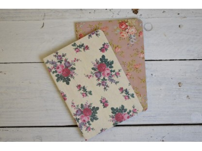 Notebooks fantasia vintage floreale. Set da 2