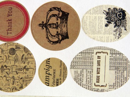 Scrapbooking mix 12 stickers stampe vintage