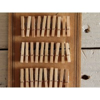 Scrapbooking set 30 mollette legno