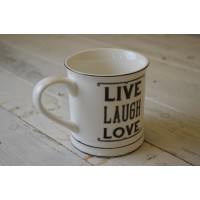 "tazza mug ""live laugh love"""